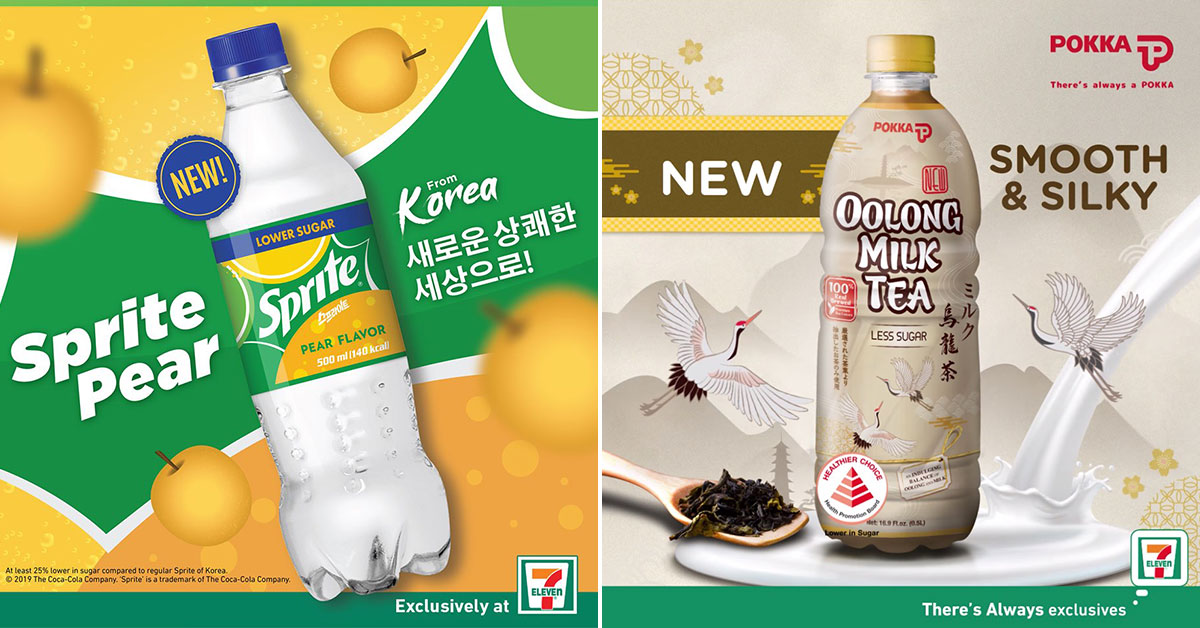 7-Eleven S'pore now has Sprite Pear from Korea and Pokka Oolong Milk Tea bottled drinks