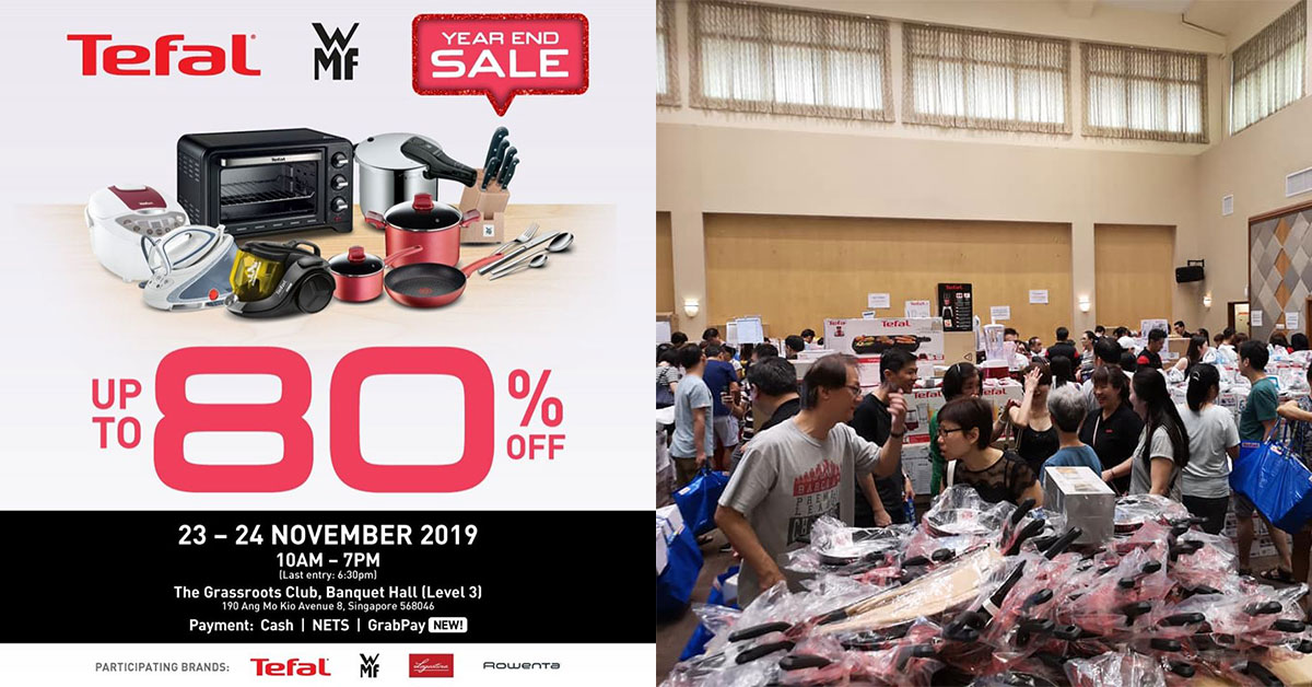 Tefal and WMF Year-End Warehouse Sale at YCK on Nov 23 & 24 has up to 80% off cookware & home appliances