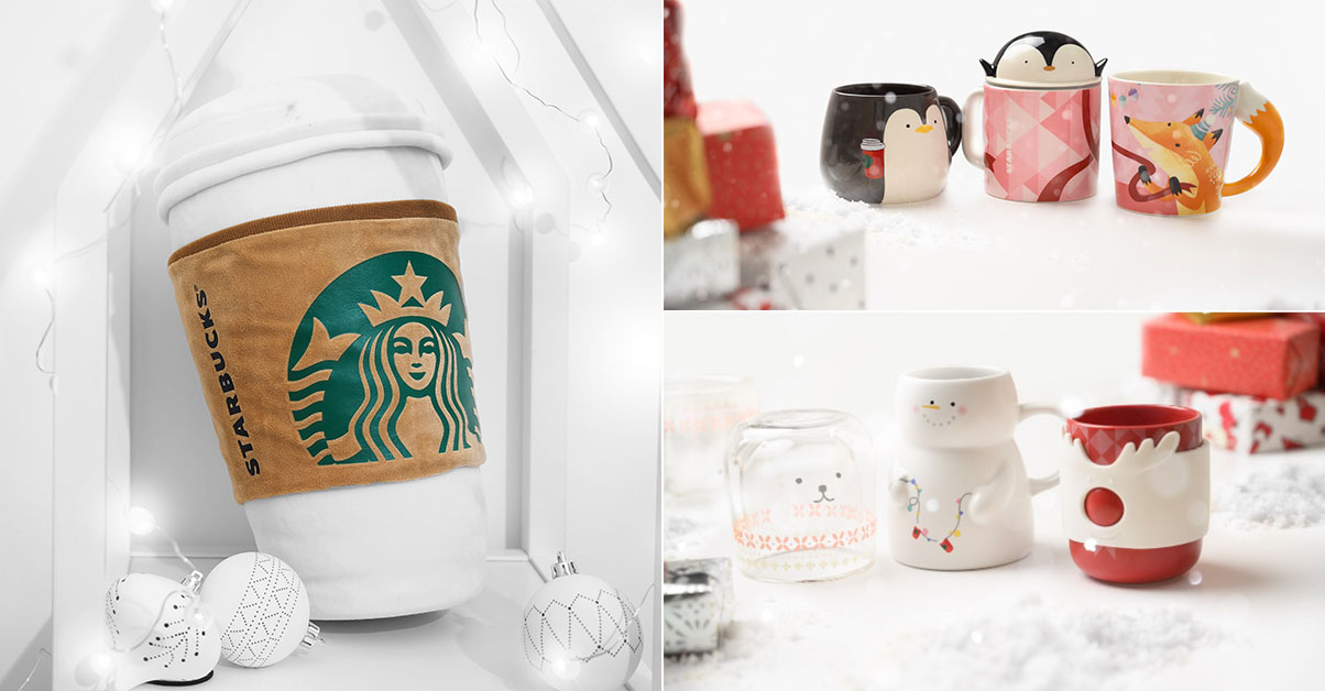 Starbucks Hot Cup Cushion and more Xmas Tumblers, Mugs & Accessories available in S'pore from Nov 18