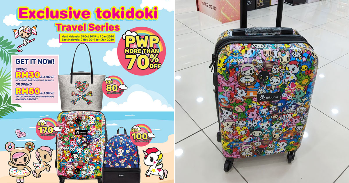 Guardian M'sia has Tokidoki Bags & Luggage with prices as low as S$26 from now till Jan 1