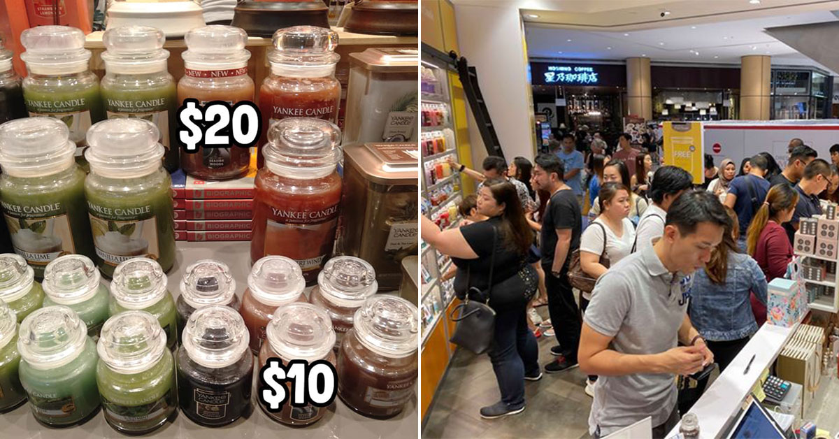 Yankee Candle in Suntec now having crazy Xmas Sale with prices from S$10 per bottle for a limited period