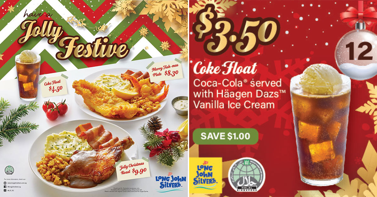 Long John Silver's now has Roast Chicken, Coke Float & Xmas Discount Coupons valid till Dec 31