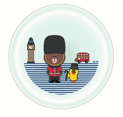London themed plate