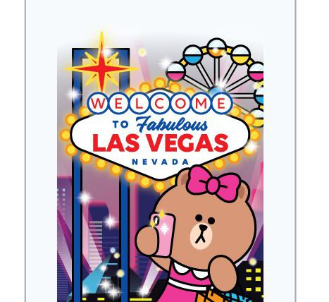 Las Vegas themed glass bottle