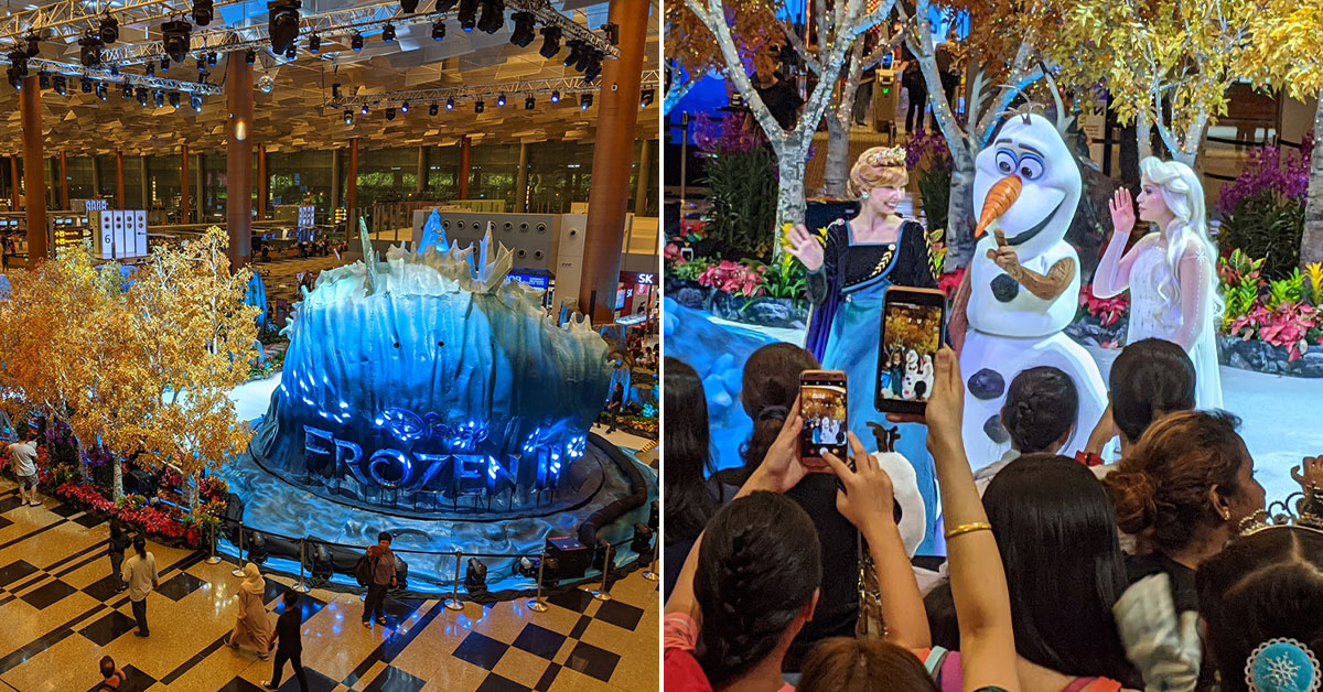 Frozen 2 Wonderland at Changi Airport now open till Jan 5. Here's a quick look inside