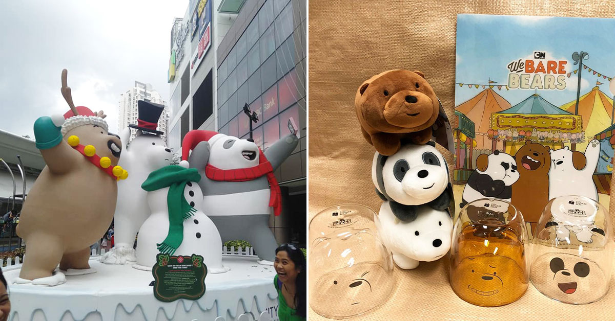 City Square Mall has giant winter-themed We Bare Bears installations & exclusive merch that will melt your hearts