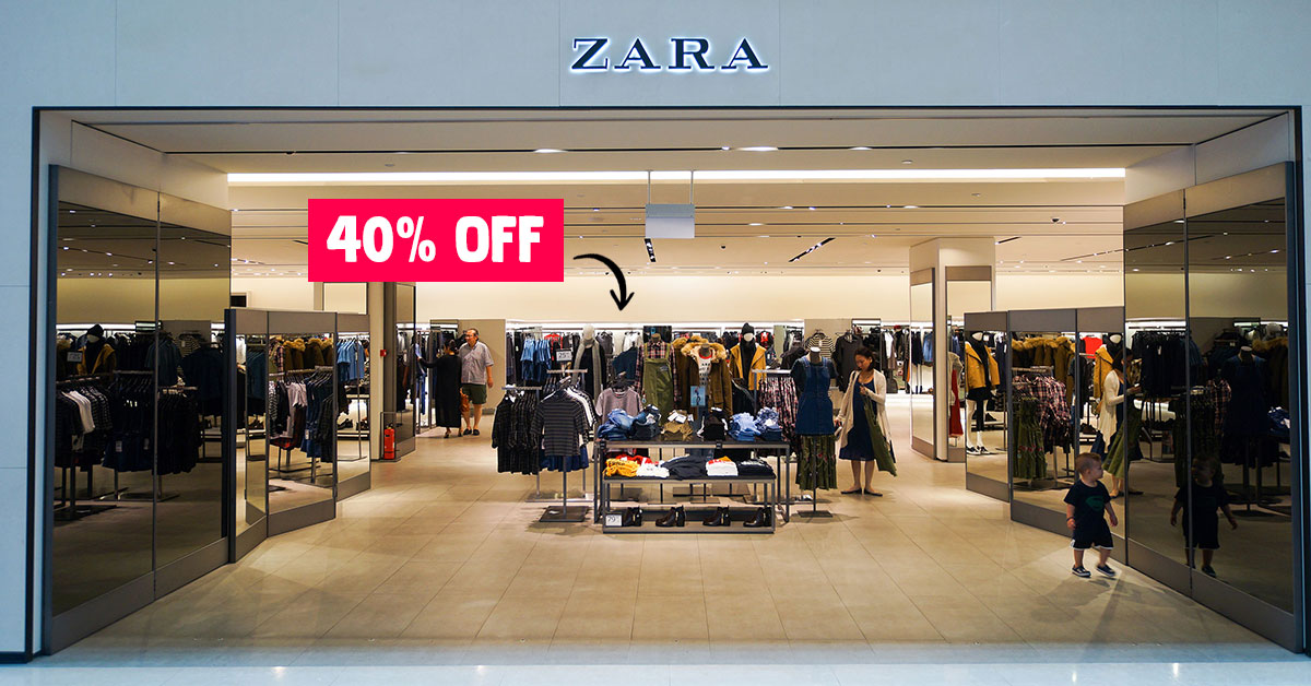 Zara S'pore Christmas Sale has 40% Off hundreds of items in stores & online for a limited time
