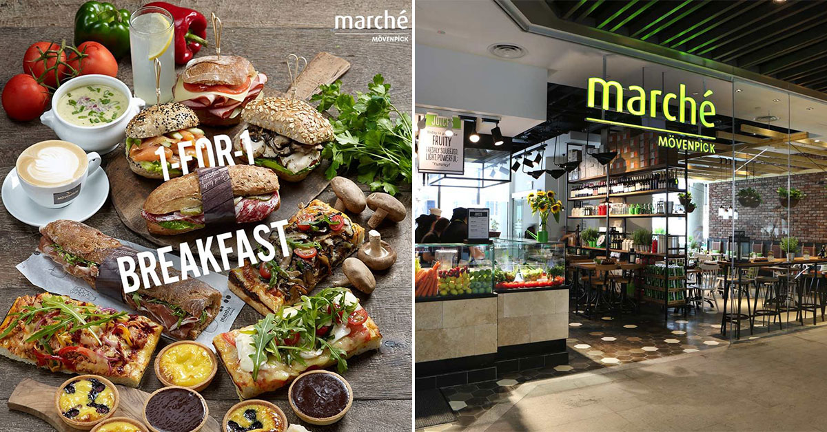 Marché 1-for-1 Breakfast Promotion is back at JEM & Raffles City outlets daily from 9am onwards