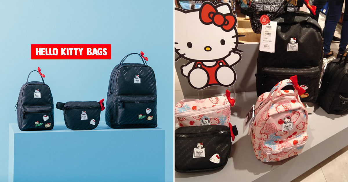 Kawaii Herschel Supply x Hello Kitty backpacks and hip packs now available in S'pore
