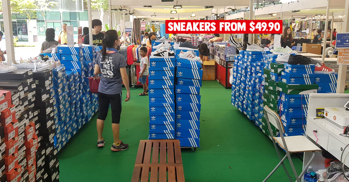 Pop-up sale in Bedok Town Square till Dec 1 has Nike, Adidas, Puma & Converse shoes from $49.90