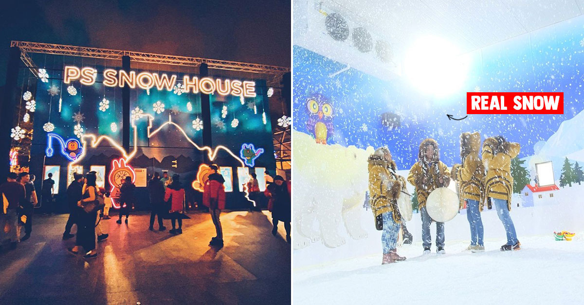 Plaza Singapura's Snow House lets visitors experience real snow & wintry temperatures as cold as -10 degrees