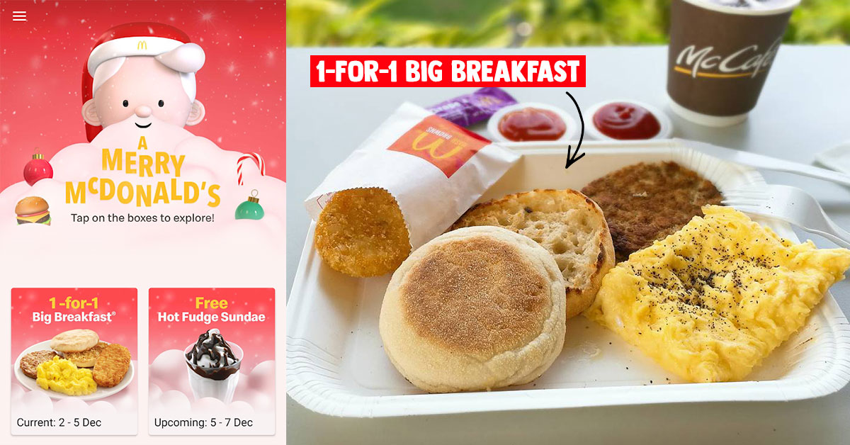 McDonald's S'pore app now has 1-for-1 Promotion on Big Breakfast till Dec 5