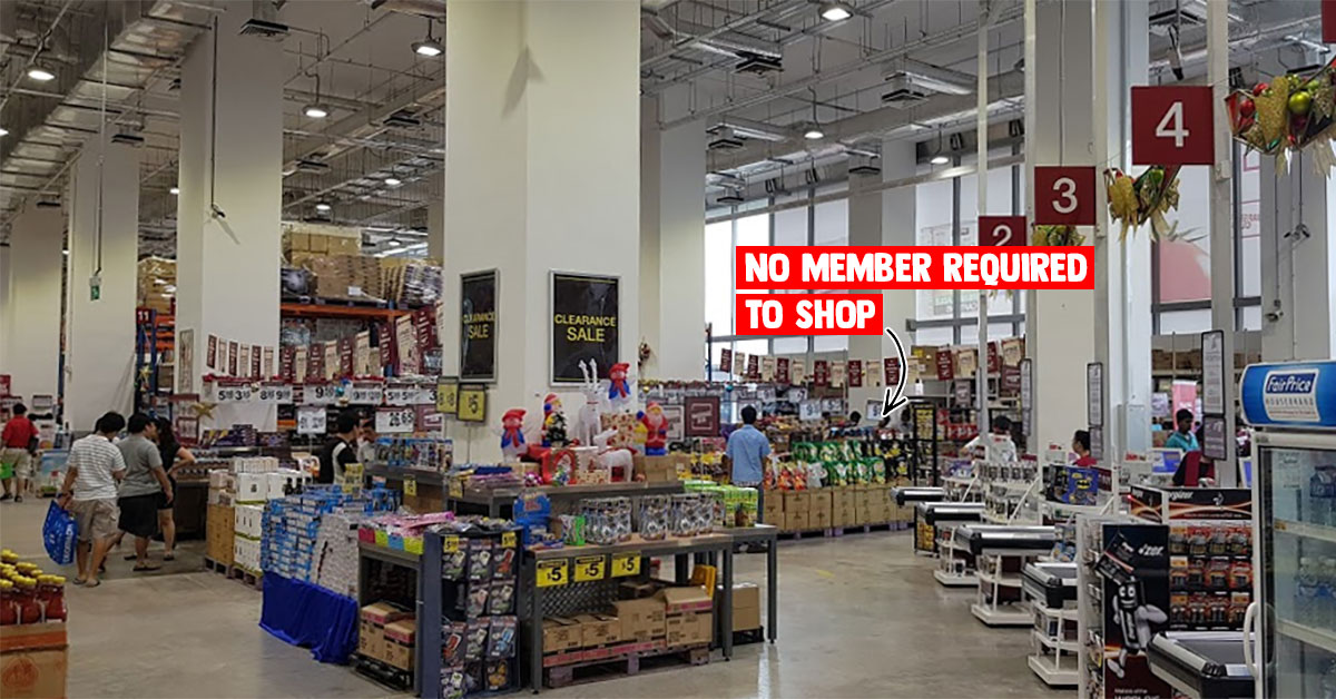 NTUC Warehouse Club having Xmas Open House till Dec 25 means you can shop without membership