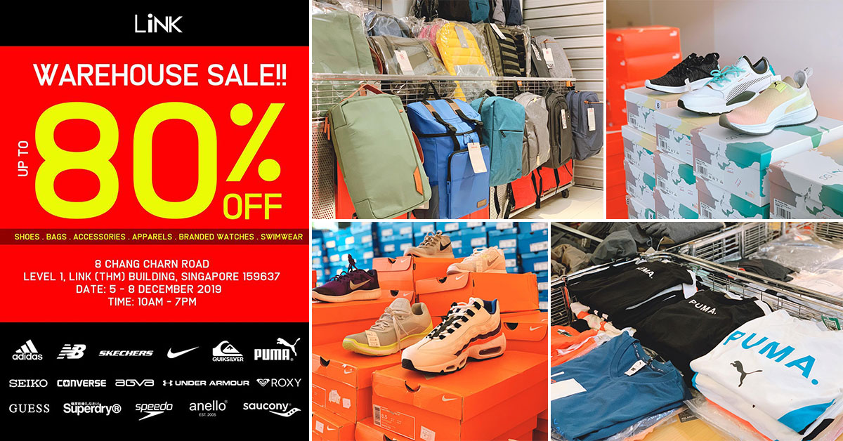 LINK Warehouse Sale in Redhill from Dec 5 – 8 will have Adidas, Converse, Nike, PUMA, Superdry & more on sale up to 80% off