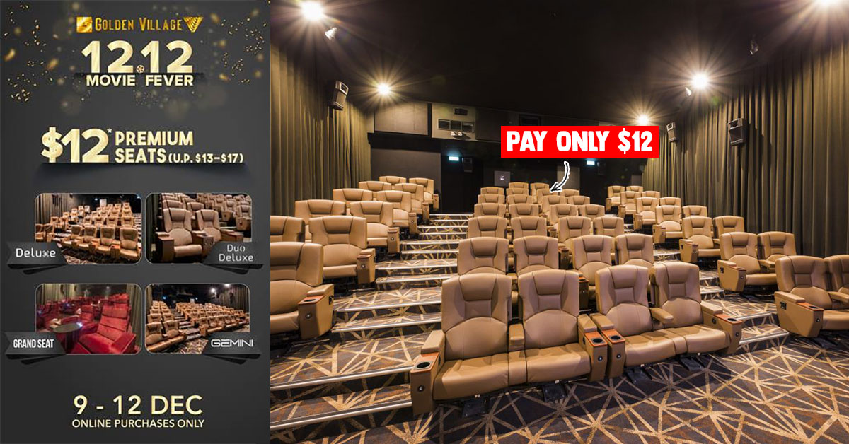 GV Cinemas will be selling Premium Seats at just $12 per ticket from Dec 9 – 12