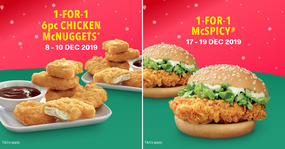 Here's the list of McDonald's S'pore 1-for-1 in-app deals on burgers, sides & more till Dec 28