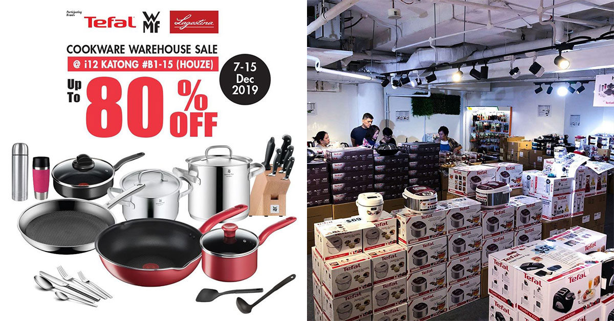 There's a HOUZE x Tefal & WMF Warehouse Sale in Katong till Dec 15 with appliances & cookware up to 80% off