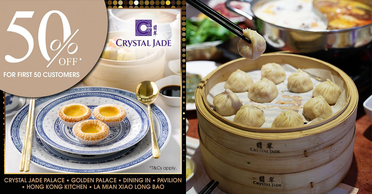 Crystal Jade to offer 50% off to diners at all outlets on Dec 12 because 12.12