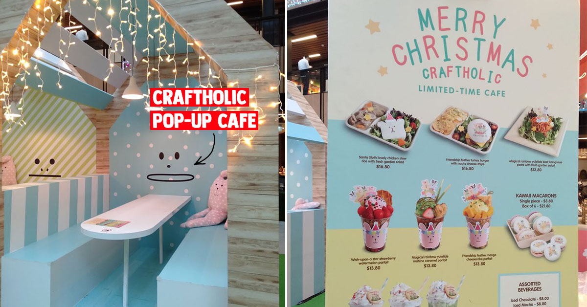 Craftholic Pop-up Cafe in Singpost Centre has kawaii-themed mains, desserts & collectible tumbler you can bring home