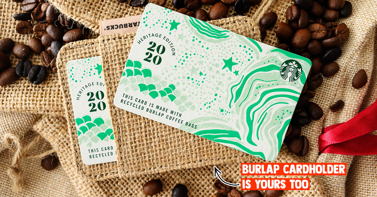 Starbucks S'pore releasing special edition Starbucks Card that's made from recycled burlap coffee bags