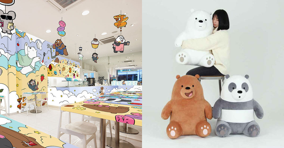 S'pore first-ever fully-themed We Bare Bears Cafe with exclusive imported merch coming in Jan 2020