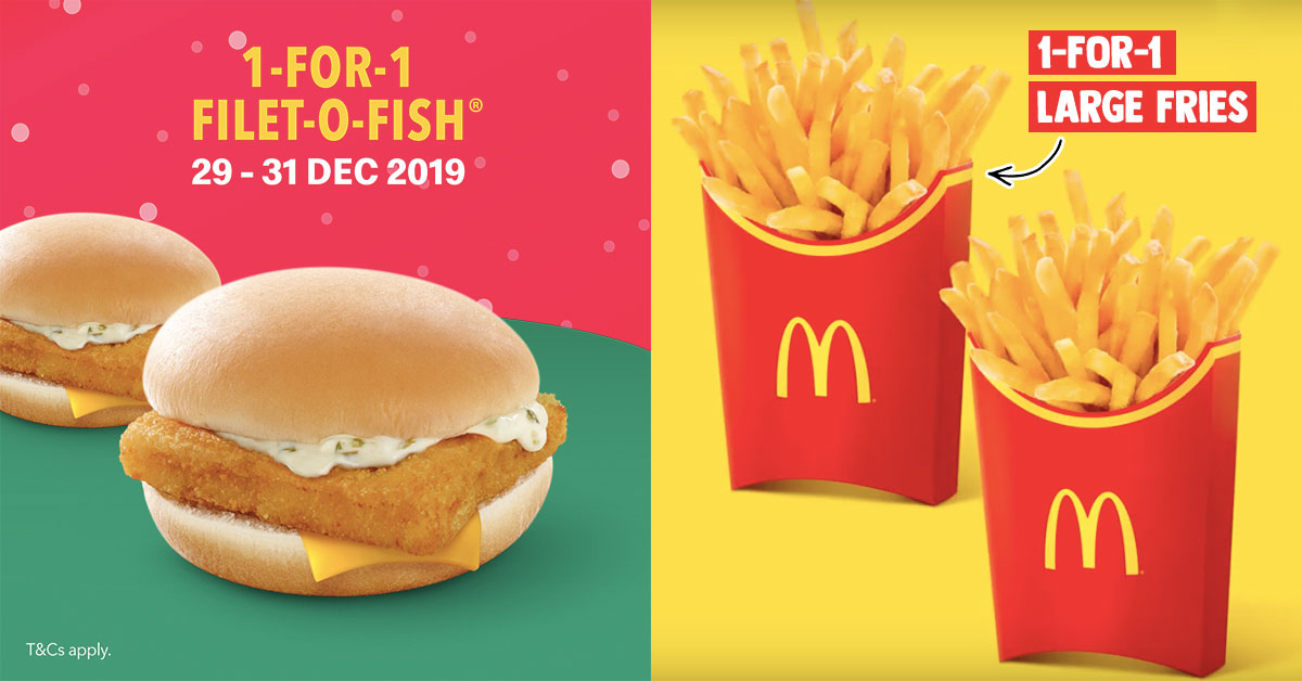 Mcdonald S S Pore Will Be Offering 1 For 1 Filet O Fish Large
