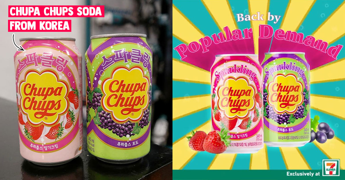 Chupa Chups Soda from Korea now available in 7-Eleven S'pore outlets again for a limited time