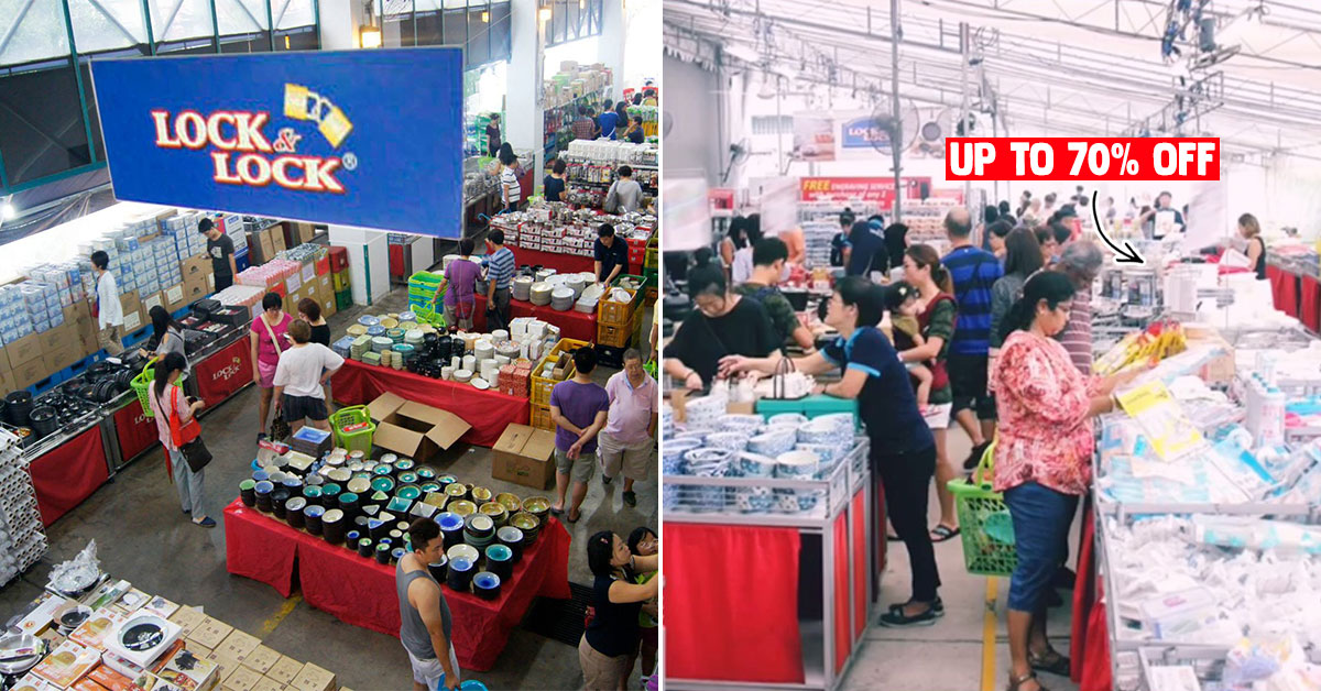 Lock & Lock Warehouse Sale from Jan 9 – 12 will have lots of plasticware & food storage up to 70% off at Pandan Ave