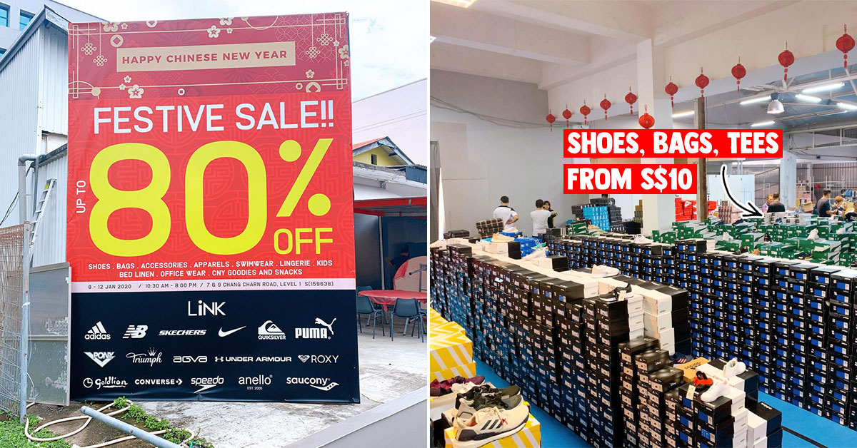 LINK Warehouse Sale in Redhill till Jan 12 has Adidas, Converse, Nike, Skechers, Puma & more up to 80% off