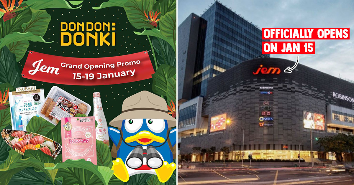 Don Don Donki Jem officially opens on Jan 15. Here are the Grand Opening Promotions to look out for