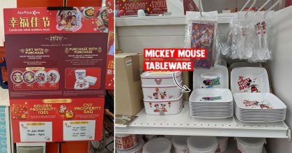 FairPrice Xtra has CNY-themed Mickey Mouse dinnerware & merchandise up for grabs till Jan 29