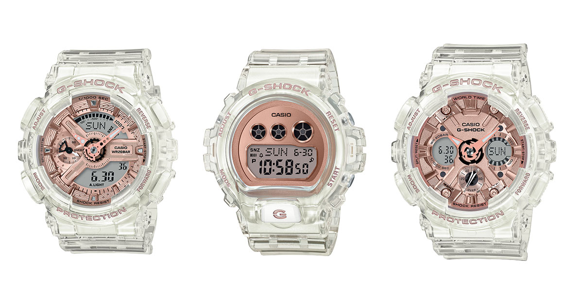 Transparent Rose Gold G-SHOCK watches available in S'pore boutiques from Jan 27 onwards