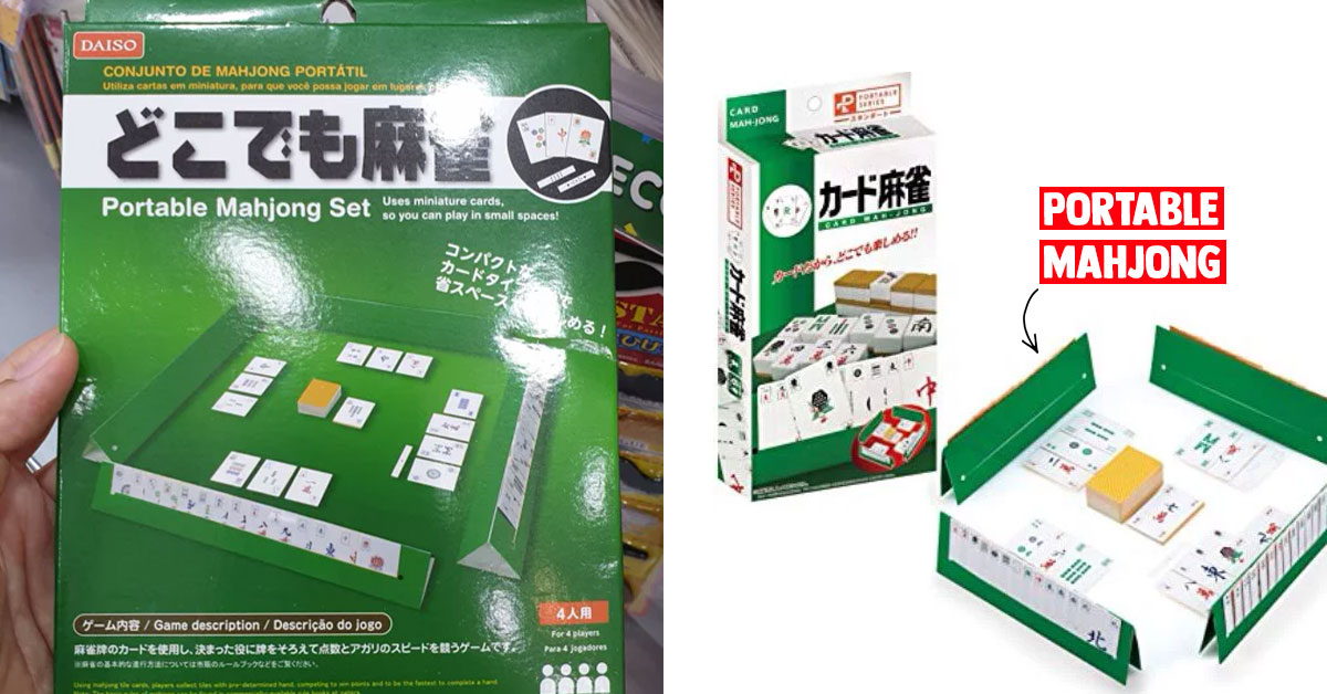Daiso S'pore selling Portable Mahjong Set for only S$2 means you got no excuse not to join in if 3 short of 1
