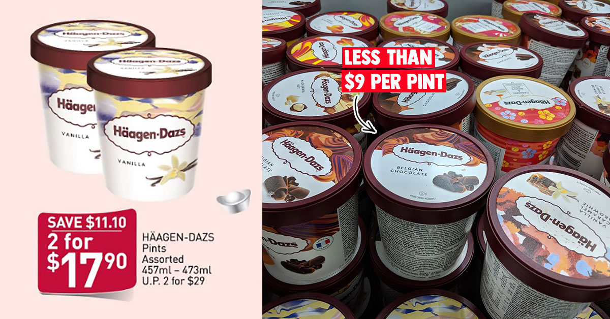FairPrice has CNY Must Buy Offer on Häagen-Dazs ice cream at $17.90 for 2 pints till Feb 5, less than $9 each