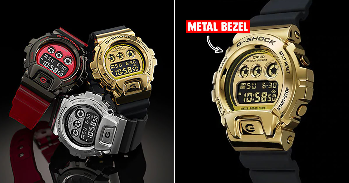 G-Shock S'pore to release new GM-6900 models with metal bezels based on classic DW-6900 design