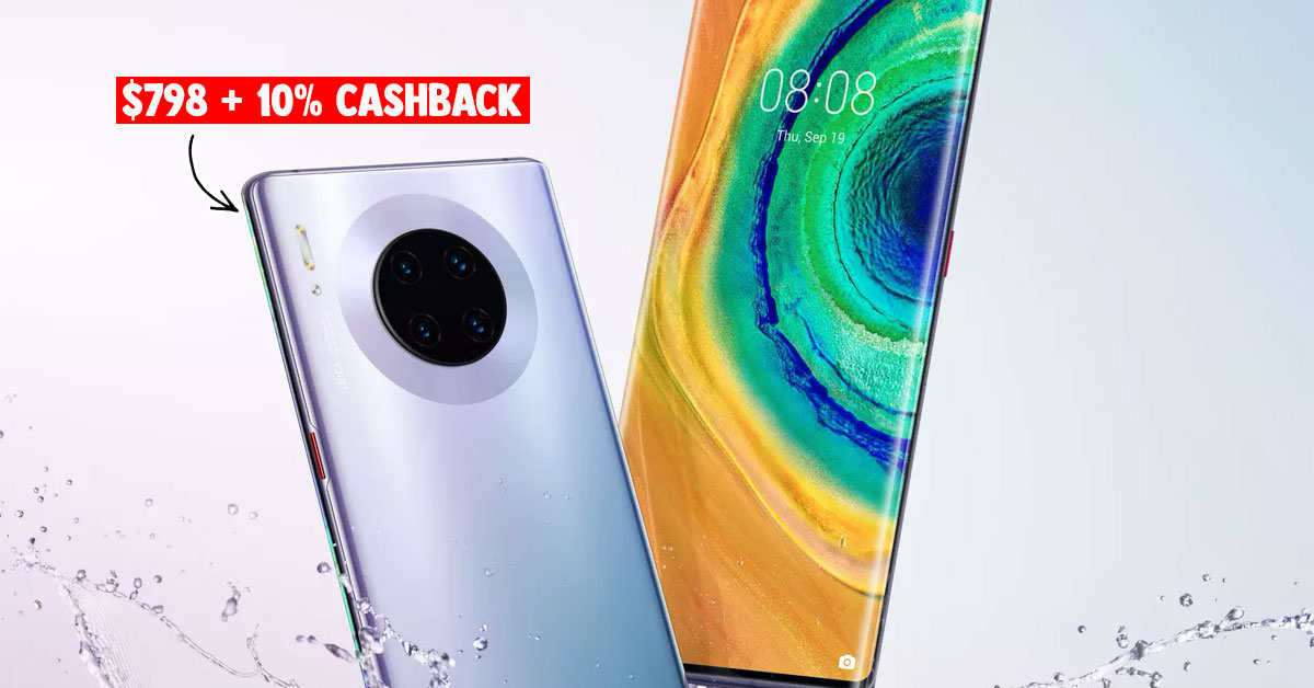 Huawei S'pore slashes price on Mate 30 triple-camera phone, selling it at S$798 with 10% cashback on Shopee