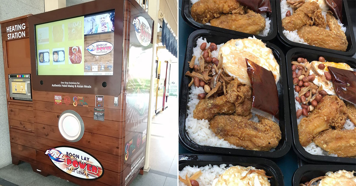 Ready-to-eat Nasi Lemak Vending Machine now a thing in S'pore, even heats it up for you