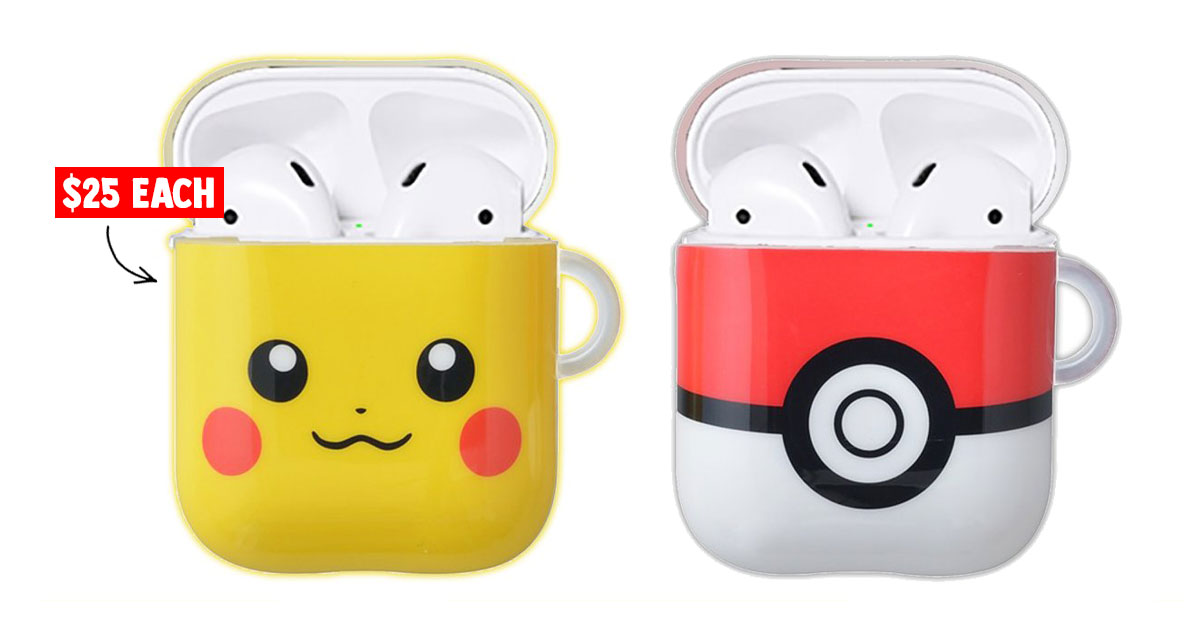 Pokémon Center to release Pikachu & Pokeball Airpods Cases so we can proudly show them off