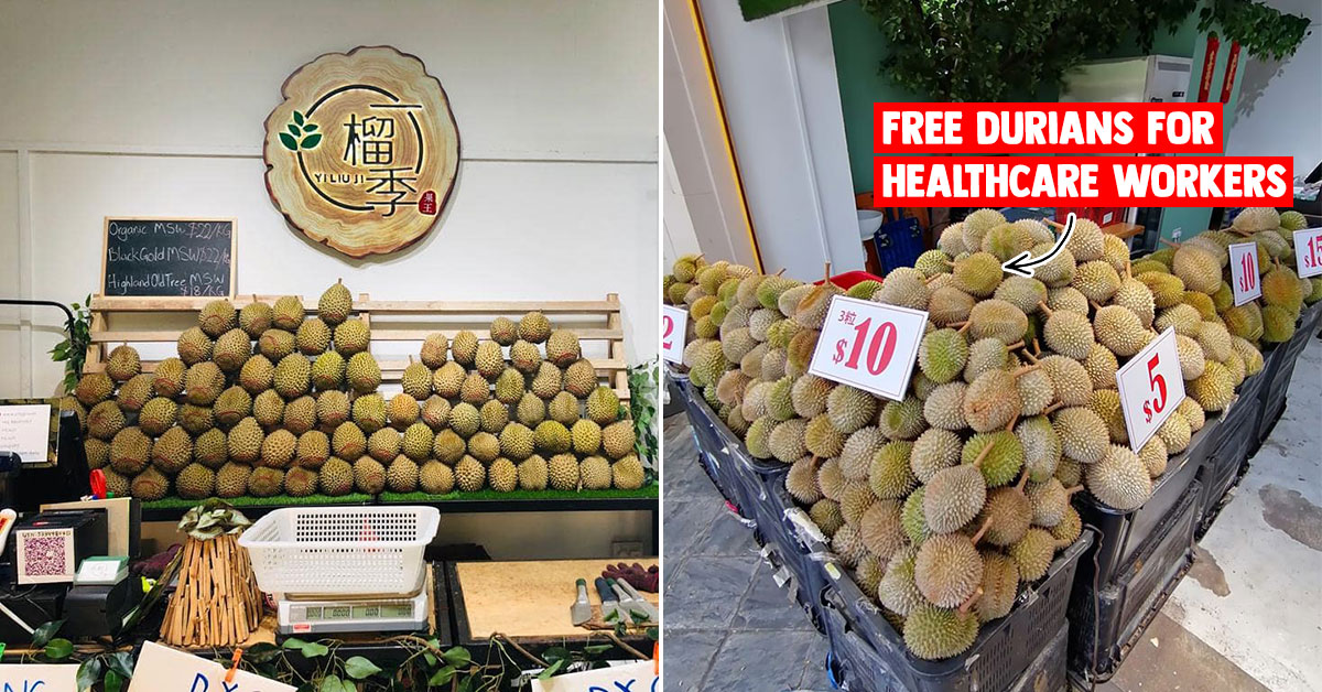 Durian place in Choa Chu Kang giving Set of 3 Durians for Free to Healthcare Workers till Feb 27