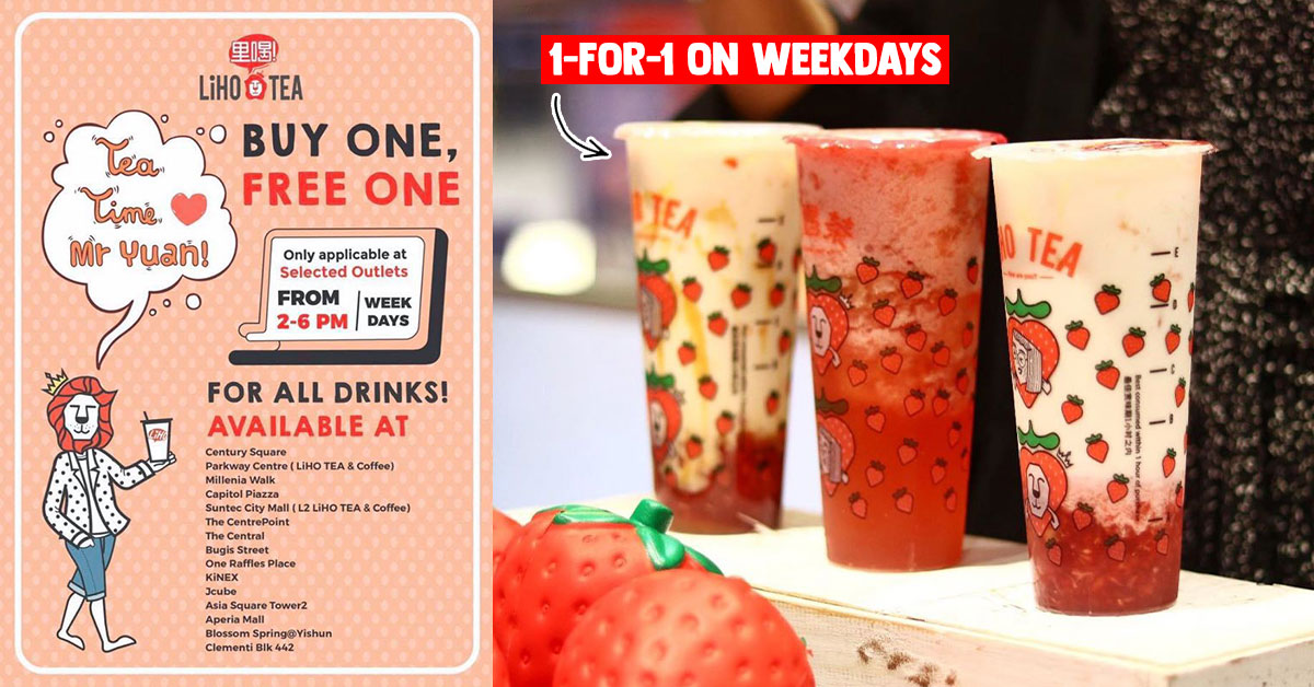 LiHO S'pore now has 1-for-1 Offer on All Drinks during weekdays 2 – 6pm, available till further notice