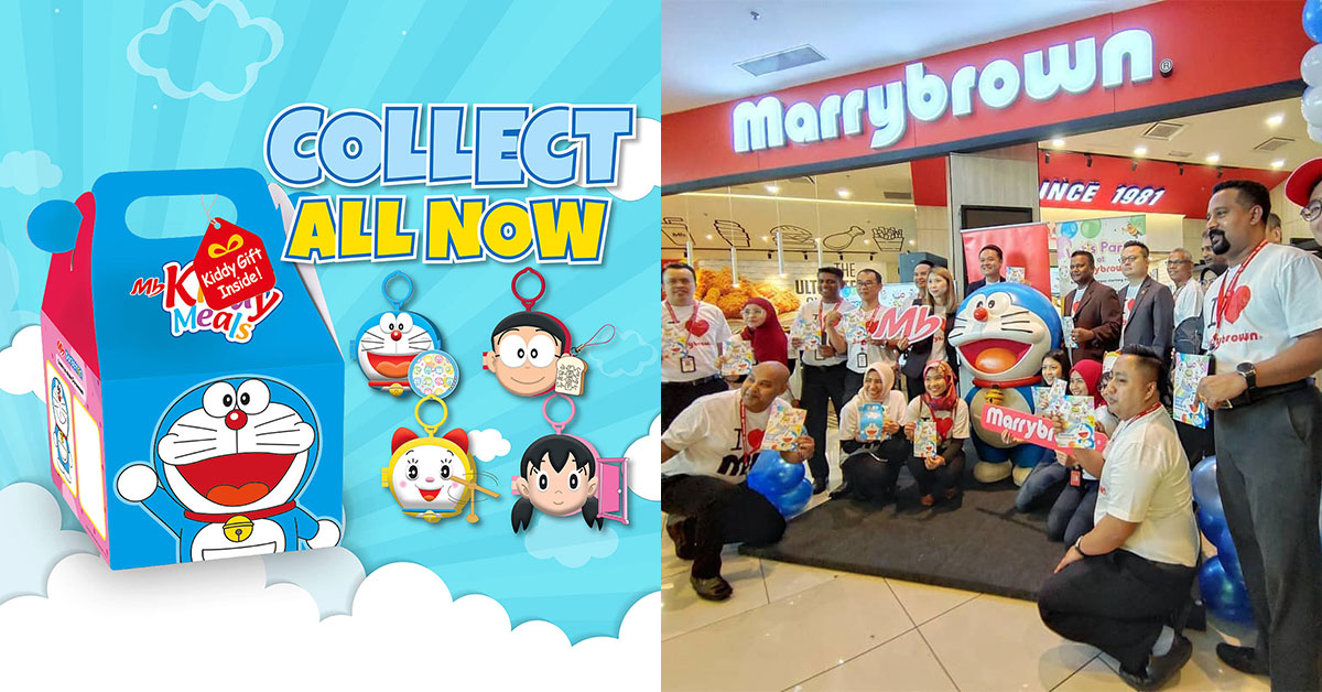 Marrybrown M'sia has free Doraemon Toys to collect with every MB Kiddy Meal purchase