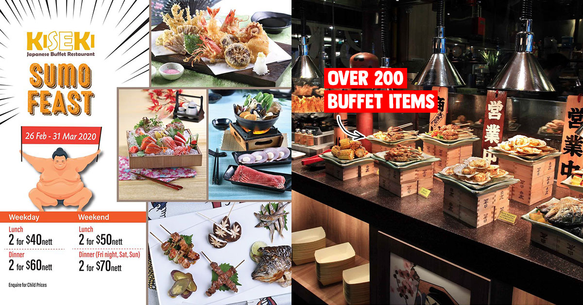 Japanese Buffet Restaurant Kiseki to offer S$20 nett per person till Mar 31, has over 200 dishes to choose from