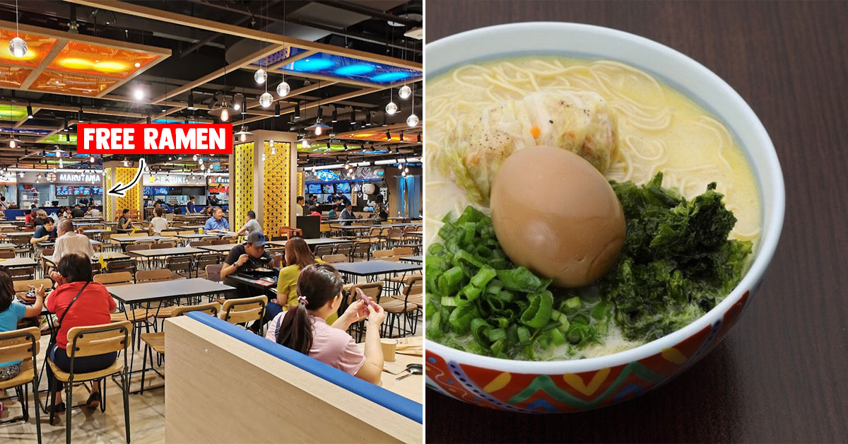 Don Don Donki JCube giving FREE bowl of Marutama Ramen to healthcare workers till Mar 31