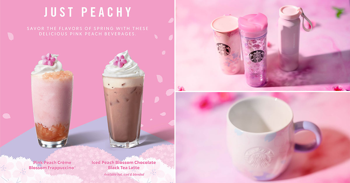 Starbucks launching new Peach Frappuccino, Latte & more Sakura-inspired merchandise from Mar 9