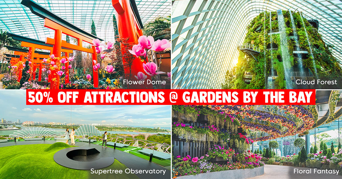 Gardens by the Bay offers 50% Off tickets to attractions including Sakura Matsuri till Mar 22 for S'pore residents