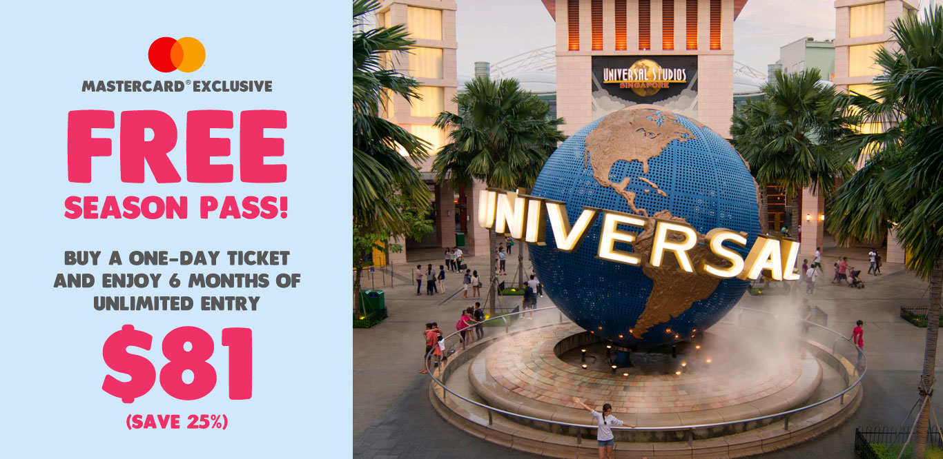Universal Studios S'pore giving FREE 6-month Season Pass when you buy 1-day ticket till Apr 12