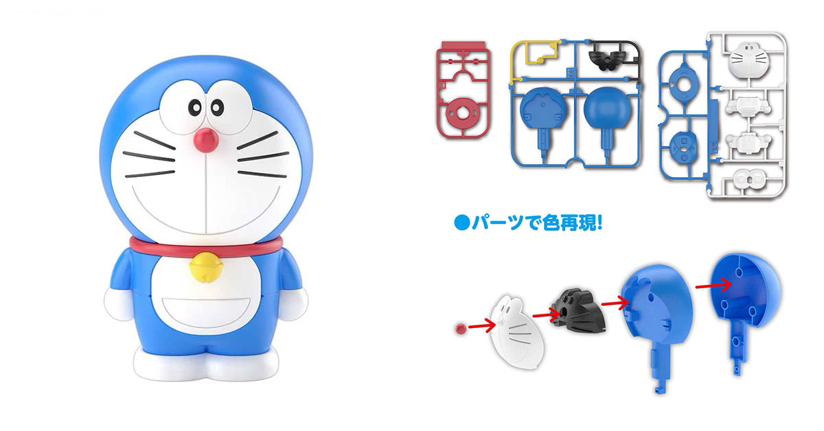 Doraemon action figure from Bandai assembles like a Gundam model kit available for pre-order at S$14.40