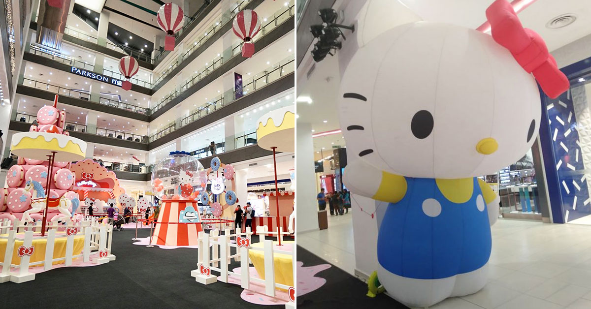 Hello Kitty Fair in JB turns Paradigm Mall atrium into a wonderland filled with giant pastry installations
