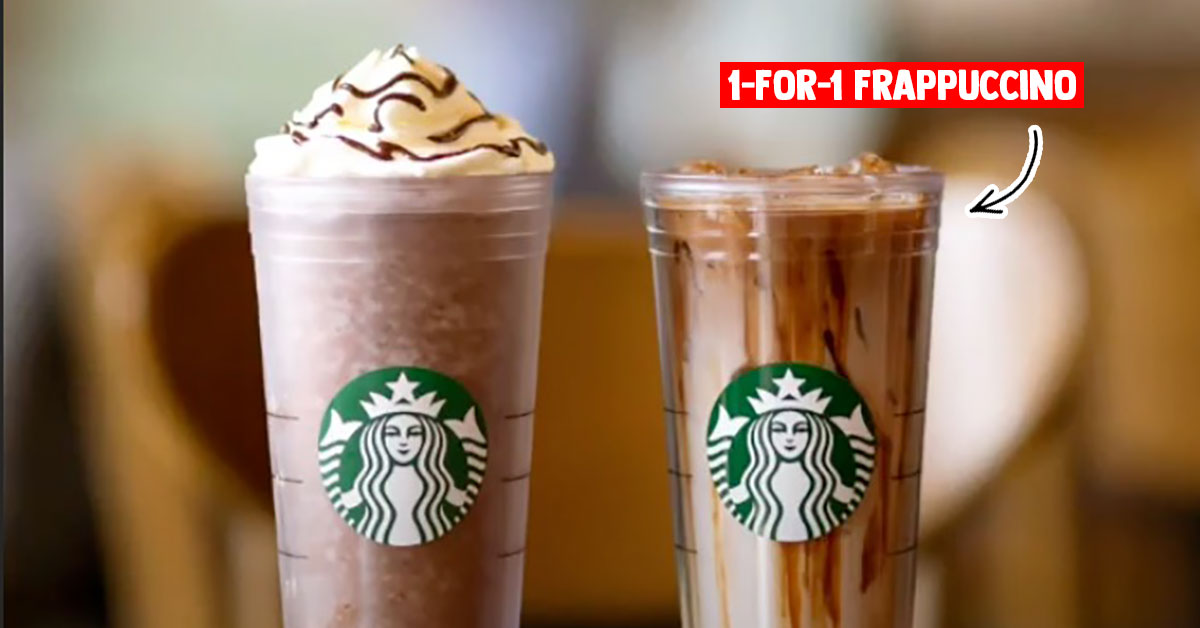 Starbucks to offer 1-for-1 French Hazelnut Macchiato, Choc Chip & Dark Mocha Frappuccino from Mar 16 – 20
