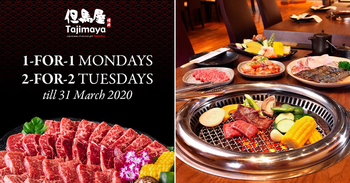 Japanese charcoal grill restaurant in VivoCity offering 1-for-1 & 2-for-2 Wagyu Beef Buffet till end-March